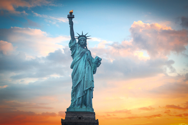 The Statue of Liberty is one of the most recognizable symbols of freedom.