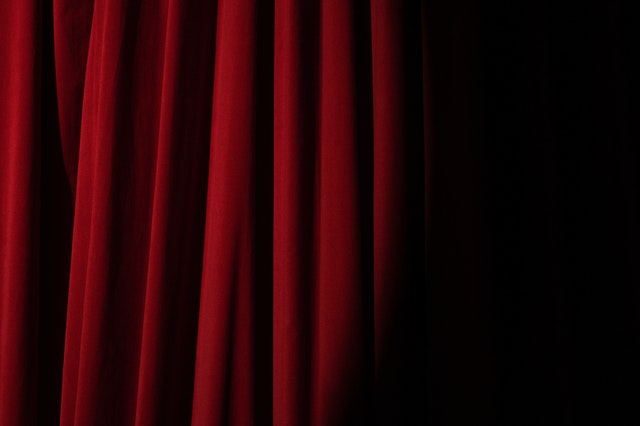red curtain for musicals