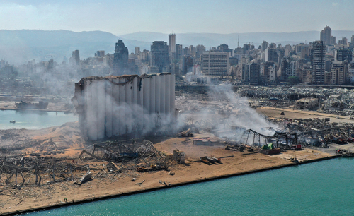 Port of Beirut unrecognizable after the explosion