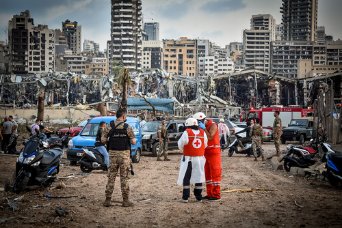 Lebanese Red Cross getting to work