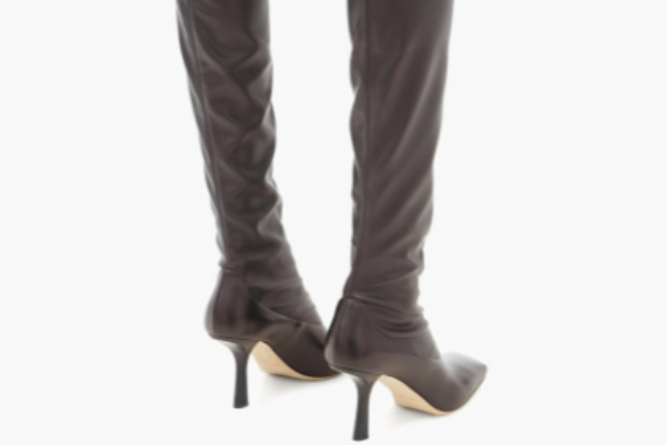 jimmy choo- leather over the knee
